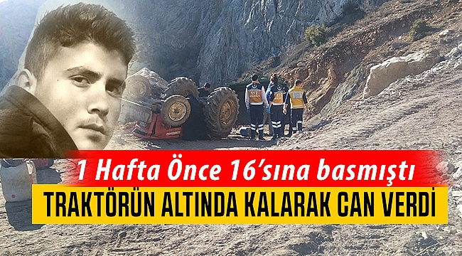 Karaman'da 16 yaşındaki genç traktörün altında kaldı