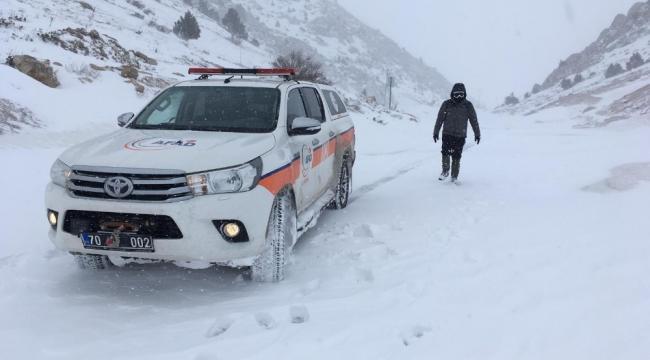 Karaman'da kayıp şahıs için arama kurtarma çalışması başlatıldı