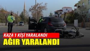 Karaman'da trafik kazası 1 yaralı