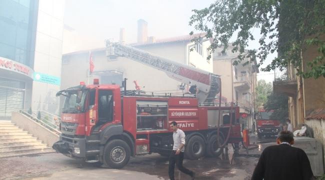 Beyşehir ilçesinde baca yangını korkuttu