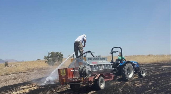 Beyşehir'de arazi yangını