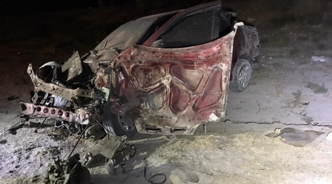 Ereğli'de Lastiği patlayan otomobil takla attı: 1 ölü, 4 yaralı