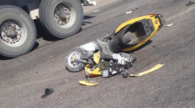 Tırla çarpışan motosikletteki 4 yaşındaki çocuk hayatını kaybetti