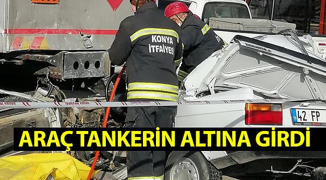 Konya'da feci kaza! Paramparça olan otomobilin sürücüsü hayatını kaybetti