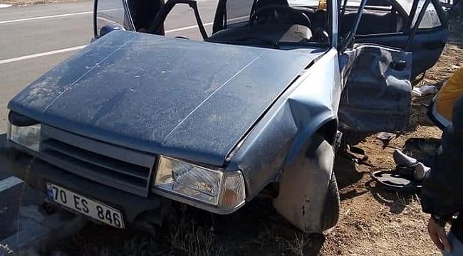 Karaman'da kamyonetle otomobil çarpıştı: 1 ölü, 2 yaralı