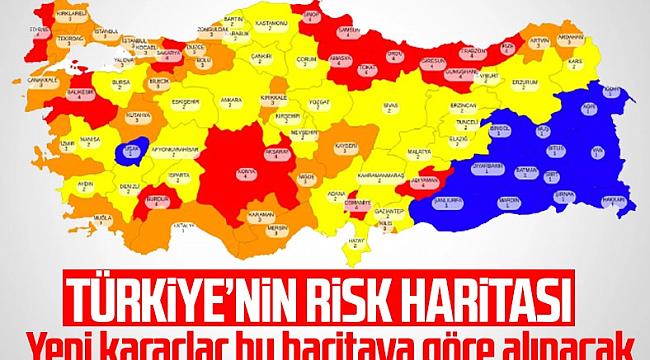 81 ilin koronavirüs risk haritası Karaman'da Yasak Varmı