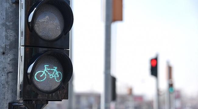 Bisiklet şehri Konya'da, bisiklet trafik ışıklarının sayısı artırılıyor