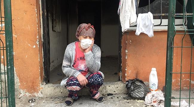 800 lira maaşla geçinen ailenin evi yangında kül oldu