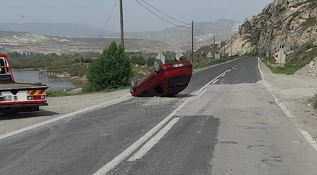 Nallıhan'da araç takla attı: 1 yaralı