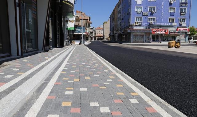 Karaman Belediyesi'nin Semerciler Sokağı'nda başlattığı çalışmalar tamamlandı
